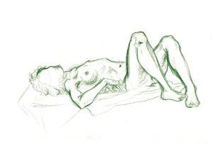 Nacktmodell-Posen